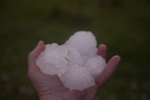 Giant Hailstones to 6cm in diameter