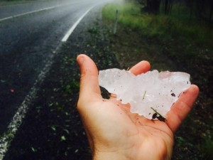 Hailstorm produced this 10cm giant hailstone