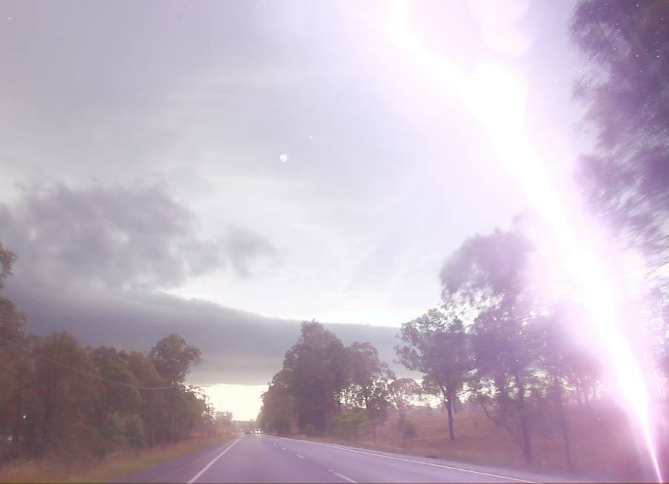 Supercell Hailstorm Lightning hits a tree